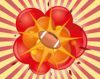 Football explosion Royalty Free Stock Images