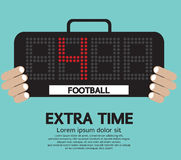 Football Extra Time. stock illustration