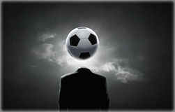 Football face Stock Photography