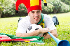 Football fan Royalty Free Stock Image