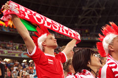 Football fan from Poland Royalty Free Stock Images