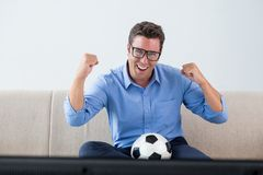 Football fan Royalty Free Stock Photos