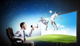 Football fan Royalty Free Stock Photography