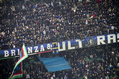 Football fans. Supporters of the internazionale team for the champions league match  -  Internazionale and Chelsea Royalty Free Stock Photos