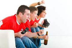 Football fans stock photos