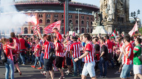 Football Fans of Athletic Bilbao Club Royalty Free Stock Images