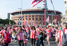 Football Fans of Athletic Bilbao Club Royalty Free Stock Photo
