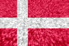 Football fans with blending Denmark flag. Crowd of football, soccer fans with raised arms with blending Denmark flag Stock Photography