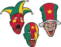 Football fans from Cameroon royalty free illustration
