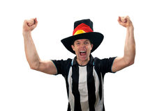 Football Fans Celebrating Stock Images