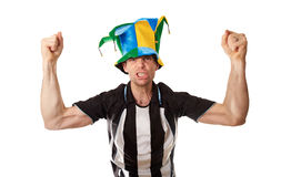 Football Fans Celebrating Royalty Free Stock Photos