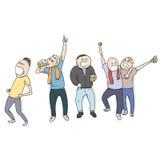 Football fans celebrating Stock Image