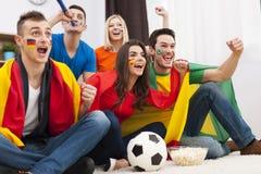 Football fans stock photos