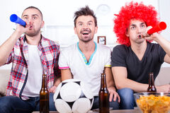 Football fans Stock Photography