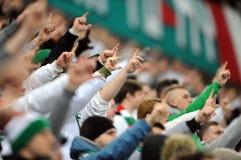 Football fans, hooligans Stock Photo