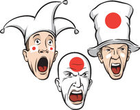Football fans from Japan Stock Images
