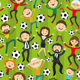 Football fans jumping Stock Images