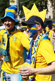 Football fans on Kyiv Royalty Free Stock Photography