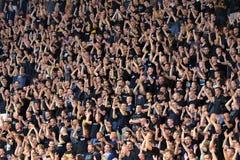 Football fans. royalty free stock photo
