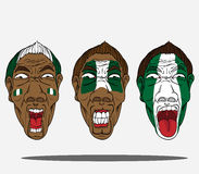Football fans from Nigeria Royalty Free Stock Photography