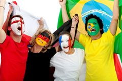 Football fans portrait Royalty Free Stock Photography