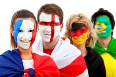 Football fans portrait Stock Photo