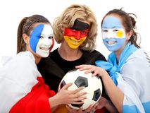 Football fans portrait Royalty Free Stock Images