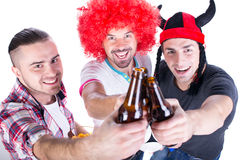 Football fans Royalty Free Stock Photography
