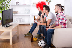 Football fans Stock Image