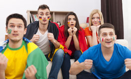 Football fans Royalty Free Stock Photo