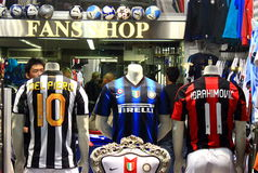 Football Fans Shop Stock Photography