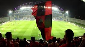 Football fans stadium stock footage