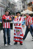 Football fans on streets Stock Photography