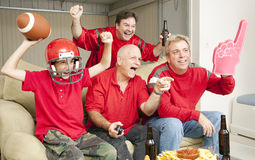 Football Fans - Touch Down Royalty Free Stock Images
