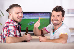 Football fans Stock Photo