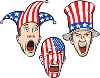Football fans from USA Royalty Free Stock Photos