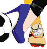 Between football and fashion Royalty Free Stock Images