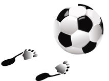 Football and feet Stock Image