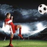 Football female player Royalty Free Stock Photos