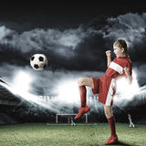 Football female player Royalty Free Stock Images
