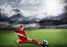 Football female player Stock Image