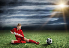 Football female player Royalty Free Stock Image
