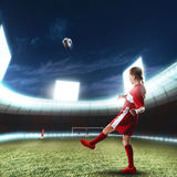 Football female player Royalty Free Stock Photos