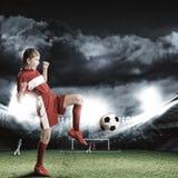 Football female player Stock Photo