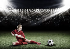 Football female player Royalty Free Stock Photography