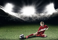 Football female player Stock Photos