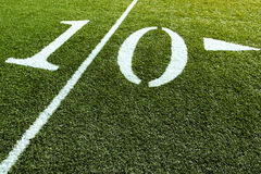 Football Field 10 Yard Line Royalty Free Stock Images