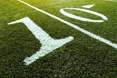 Football Field 10 Yard Line stock image