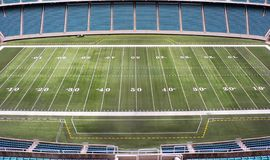 Football Field. Aerial view of a football field Royalty Free Stock Image