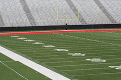 Football field. Grass and yard lines Stock Images